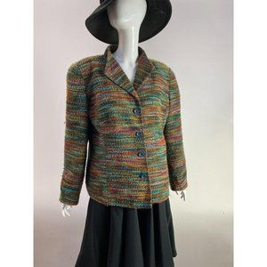 Green Woven Jacket by Coldwater Creek